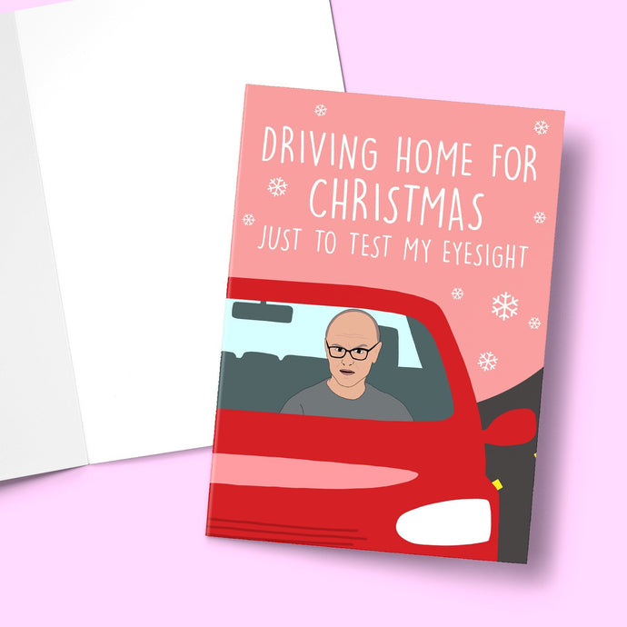 Driving Home Christmas card Greeting Card Stationery Prodigi