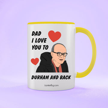 Durham And Back Two Toned 11oz Father's Day Mug Mug BanterKing Yellow 1 MUG