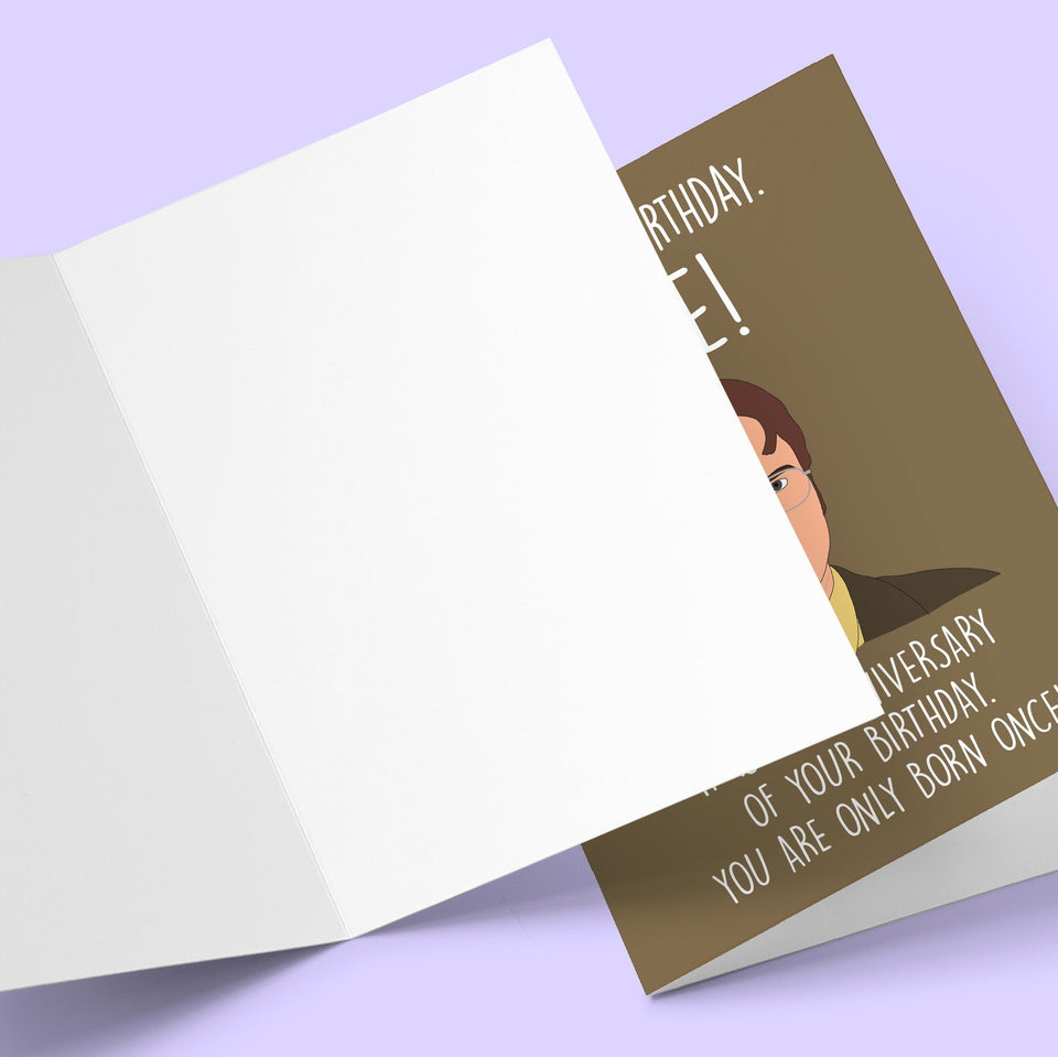 Dwight Schrute US Office, Greeting Card Stationery Prodigi