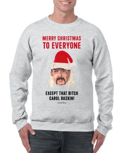 Except that B*tch Baskin Christmas Jumper Jumper BanterKing SMALL GREY