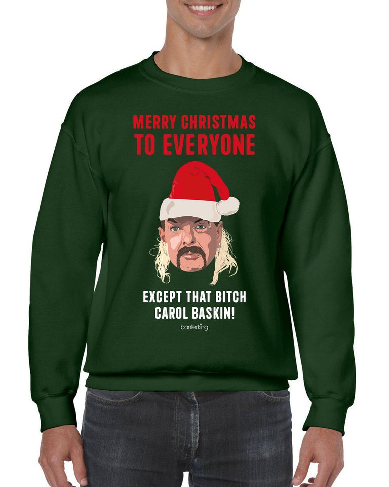 Except that B*tch Baskin Christmas Jumper Jumper BanterKing SMALL GREEN