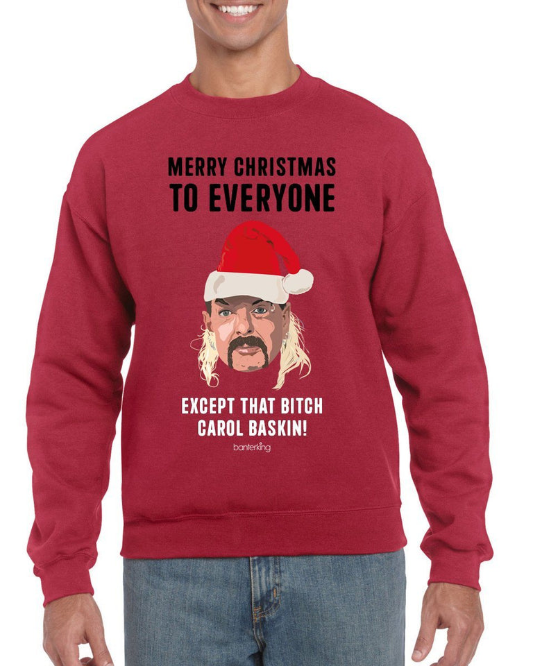 Except that B*tch Baskin Christmas Jumper Jumper BanterKing SMALL RED