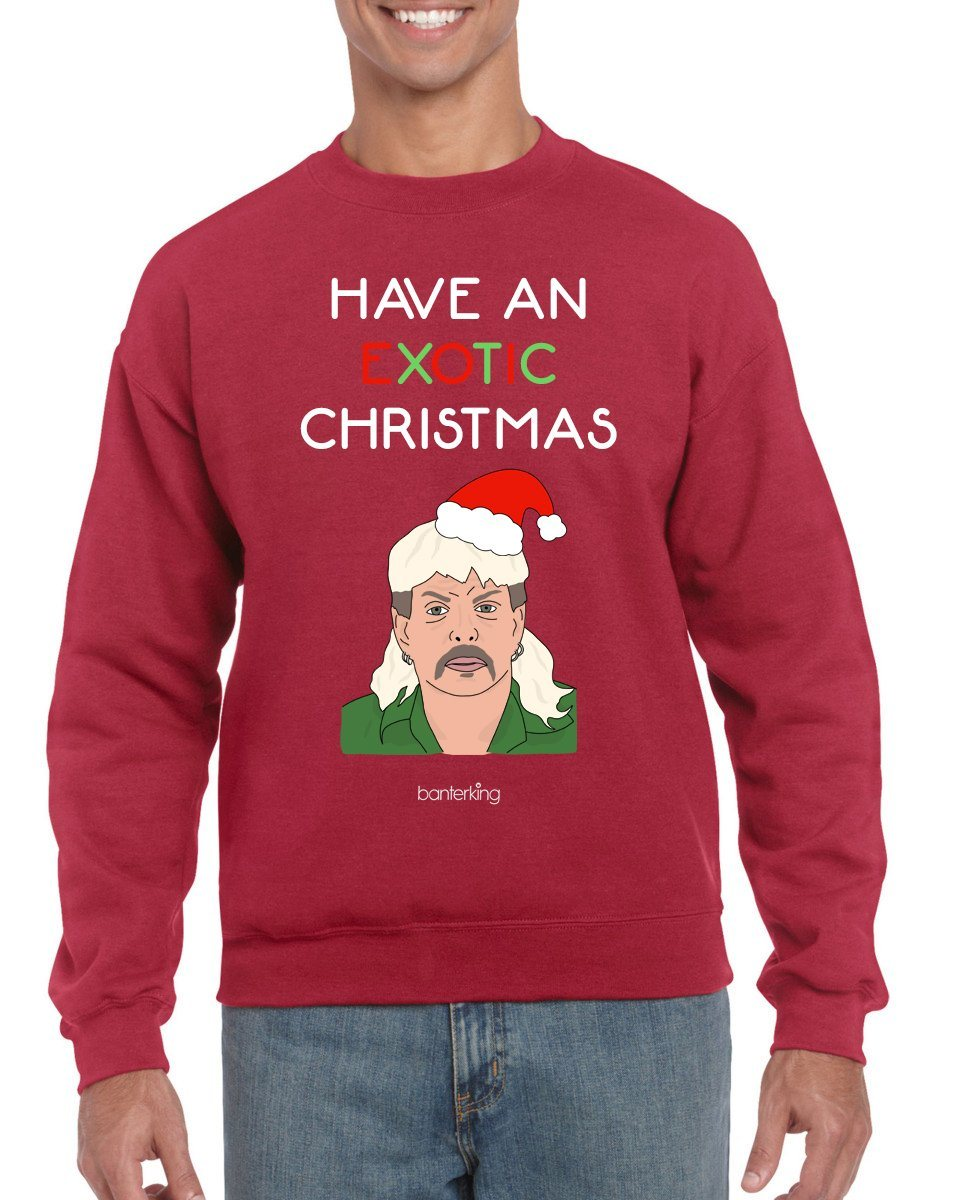 Exotic Xmas, Christmas Jumper Jumper BanterKing SMALL RED