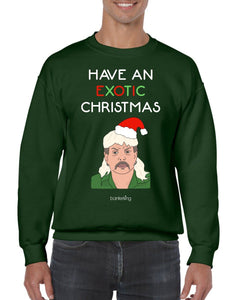 Exotic Xmas, Christmas Jumper Jumper BanterKing SMALL GREEN