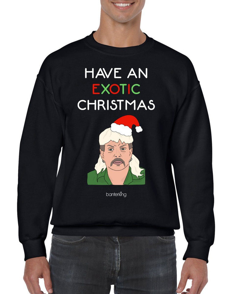 Exotic Xmas, Christmas Jumper Jumper BanterKing SMALL BLACK