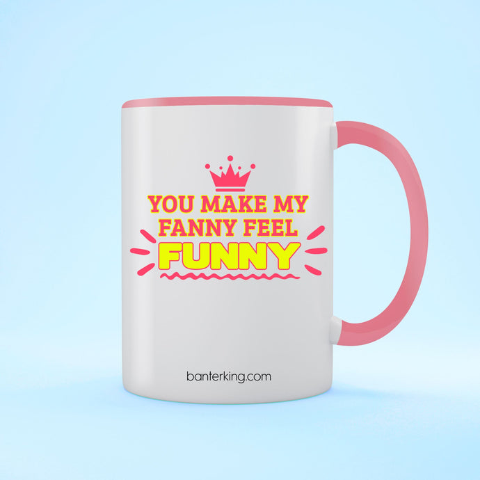 FANNY FUNNY VALENTINE'S TWO TONED LARGE 11 OZ BANTER MUG Mug BanterKing Pink 1 MUG