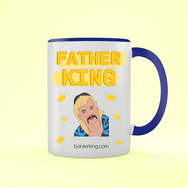 Father King Two Toned 11oz Father's Day Mug Mug BanterKing Black