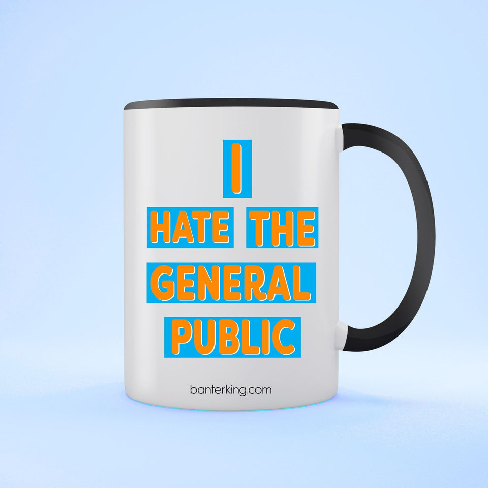 GENERAL PUBLIC TWO TONED MUG Mug BanterKing Black 1 MUG