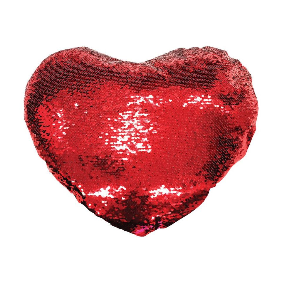 GET YOUR WILLY OUT REVERSIBLE HEART SEQUIN CUSHION Cushions BanterKing