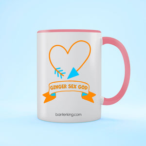 GINGER SEX GOD TWO TONED LARGE 11 OZ BANTER MUG Mug BanterKing Pink 1 MUG