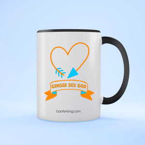 GINGER SEX GOD TWO TONED LARGE 11 OZ BANTER MUG Mug BanterKing Black 1 MUG