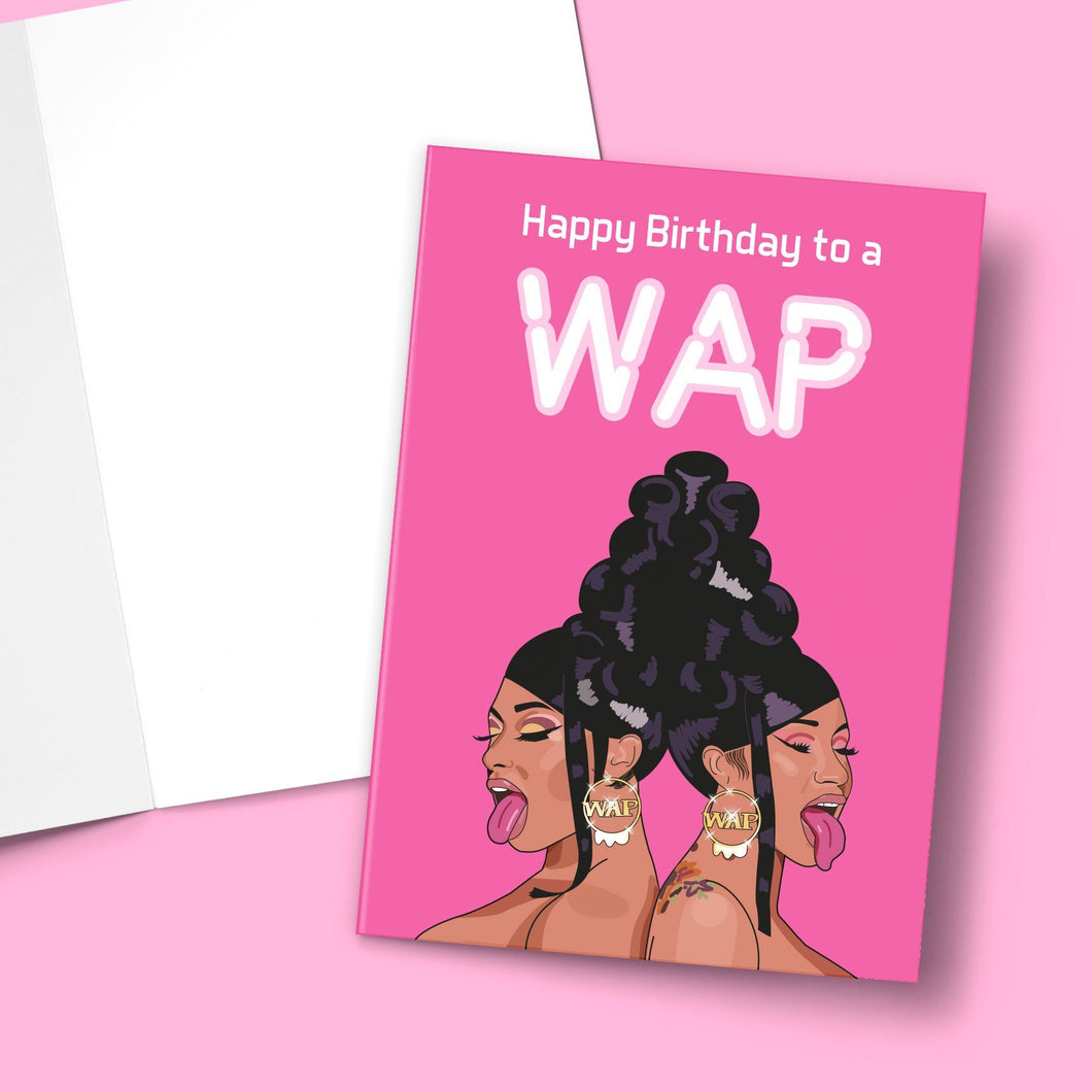Happy Birthday To A Wap Greeting Card Stationery Prodigi
