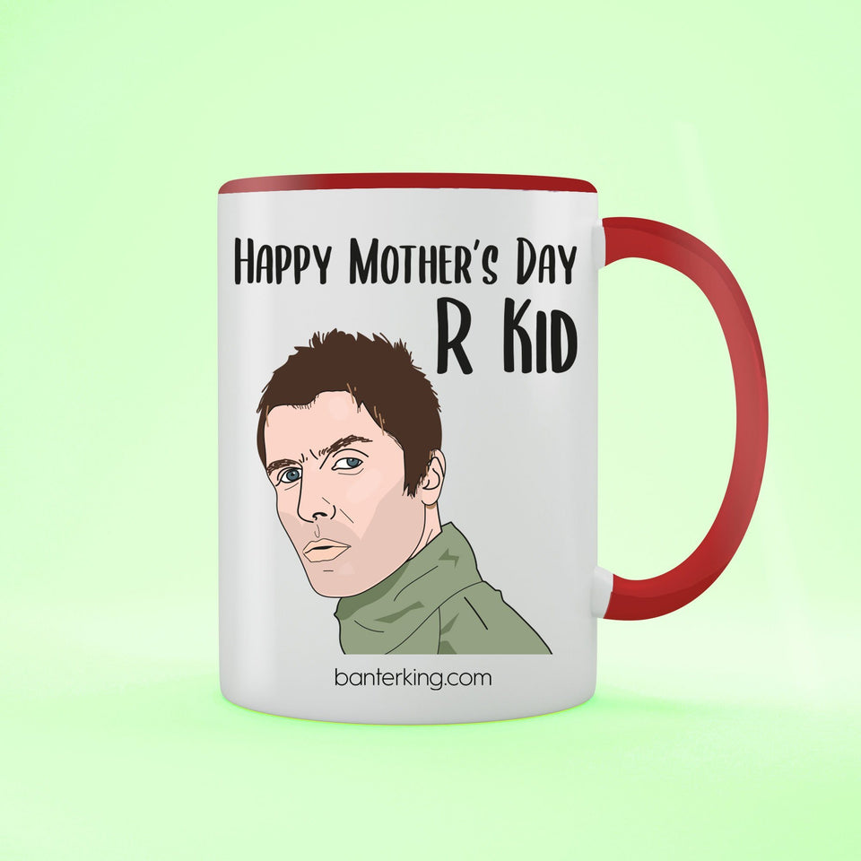 Happy Mother's Day R Kid Two Toned Large 11oz Mug Mug Inkthreadable Red