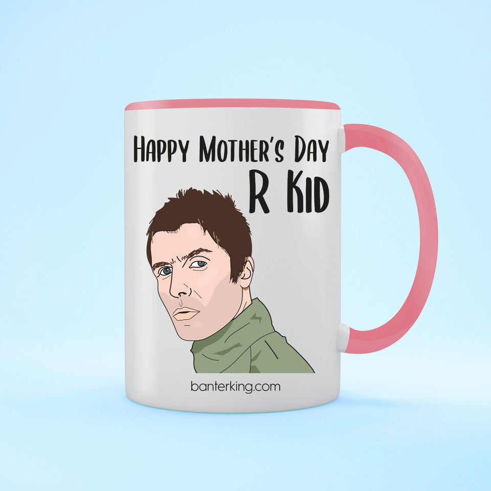 Happy Mother's Day R Kid Two Toned Large 11oz Mug Mug Inkthreadable Pink