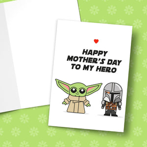 Happy Mother's Day To My Hero Greeting Card Stationery Prodigi