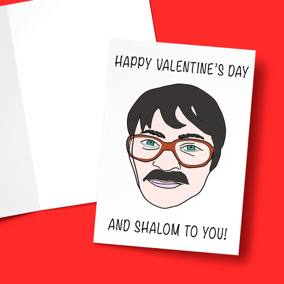 Happy Valentine's And Shalom To You Greeting Card Stationery Prodigi
