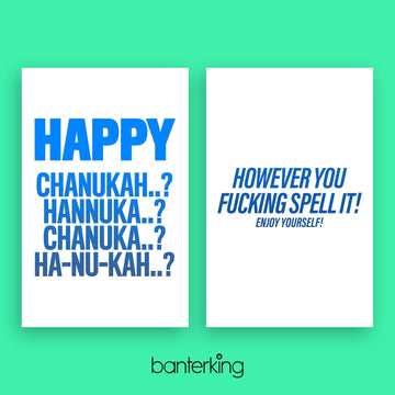 HAPPY HANUKKAH CARD Cards BanterKing