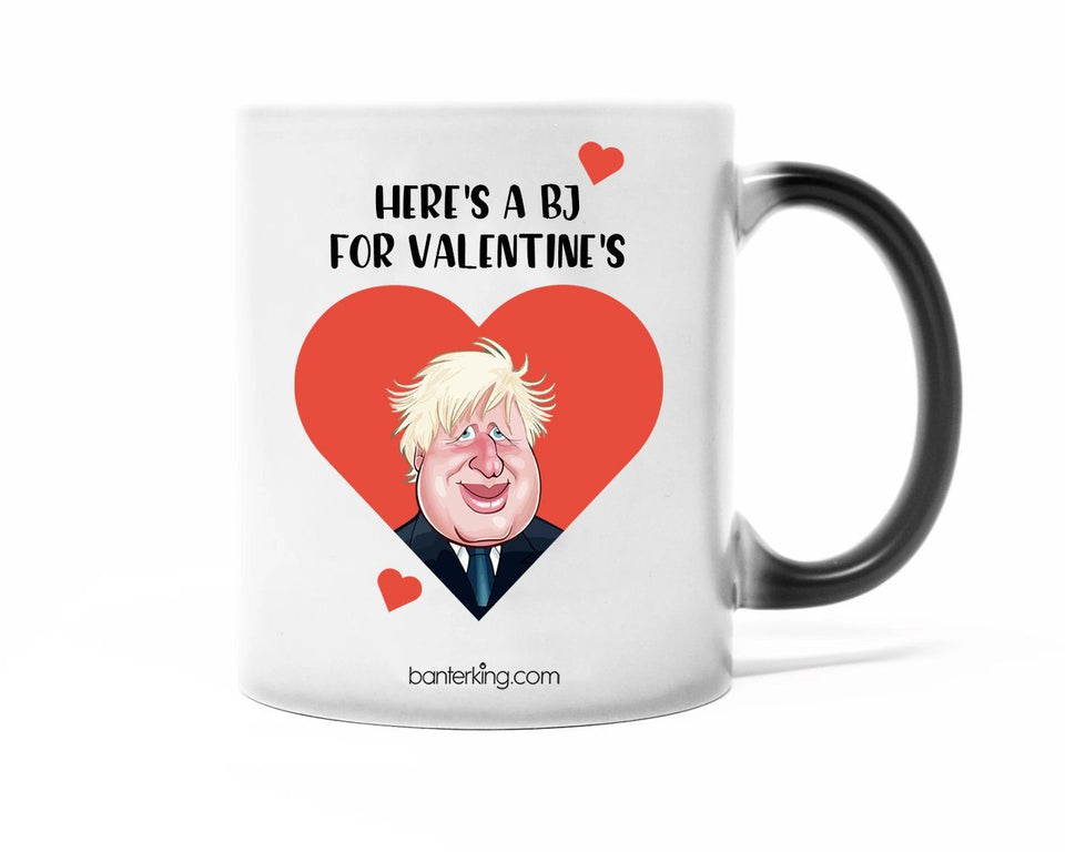 Here Is a BJ For Valentine's Colour Changing Large 11oz Mug Mug Inkthreadable
