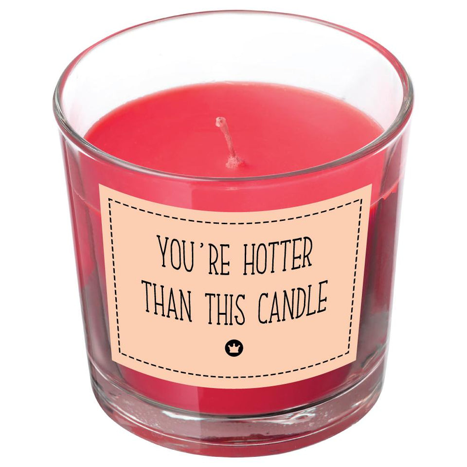 HOTTER THAN THIS CANDLE BanterKing Red/Raspberry