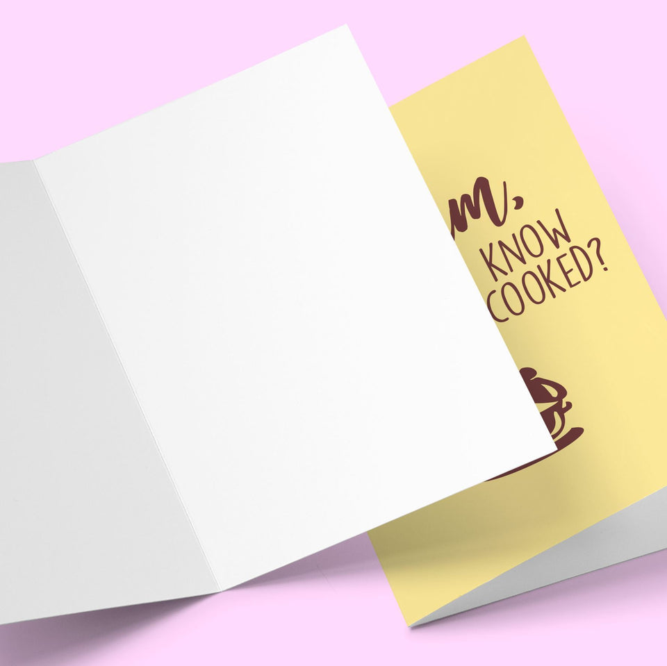 How Do I Know When It's Cooked Mother's Day Card Stationery Prodigi
