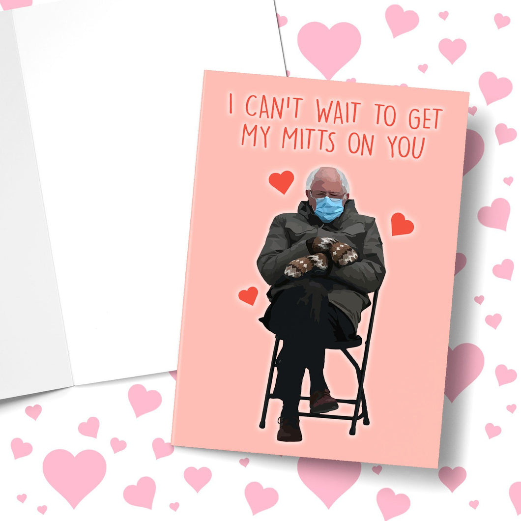 I Can't Wait To Get My Mitts On You Valentine's Greeting Card Stationery Prodigi