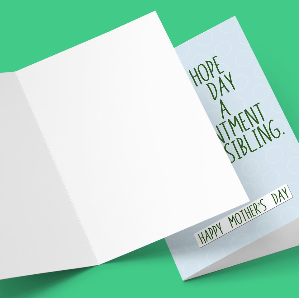 I Do Hope Mother's Day Isn't A Disappointment Greeting Card Stationery Prodigi