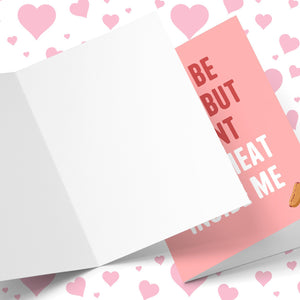 I May Be Vegan, But I Want Your Meat Valentine's Greeting Card Stationery Prodigi
