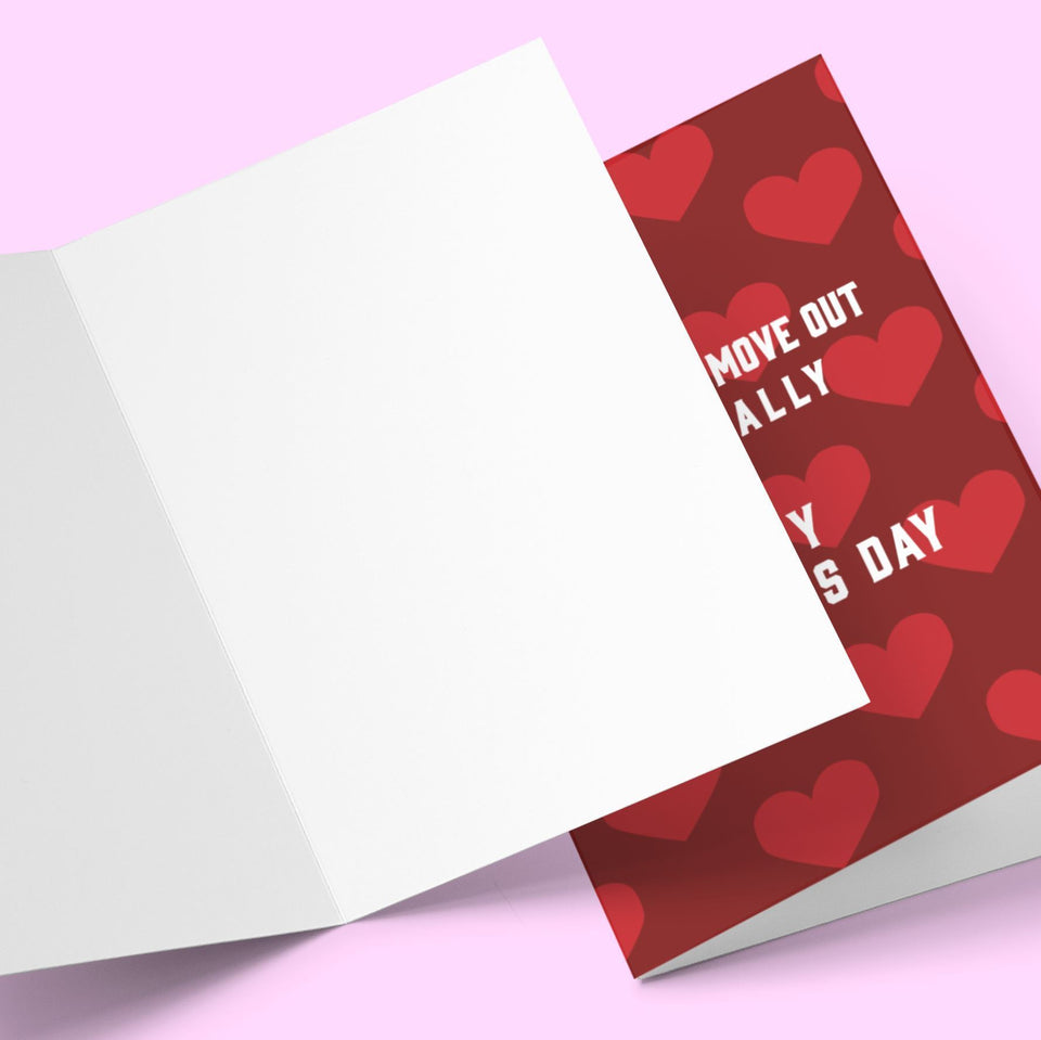 I Promise To Move Out Mother's Day Greeting Card Stationery Prodigi