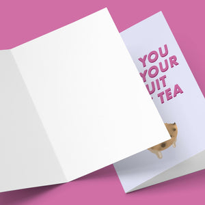 I'd Let You Dunk Your Biscuit In My Tea Valentine's Greeting Card Stationery Prodigi