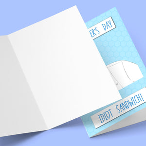 Idiot Sandwich Farther's Day Card Stationery Prodigi