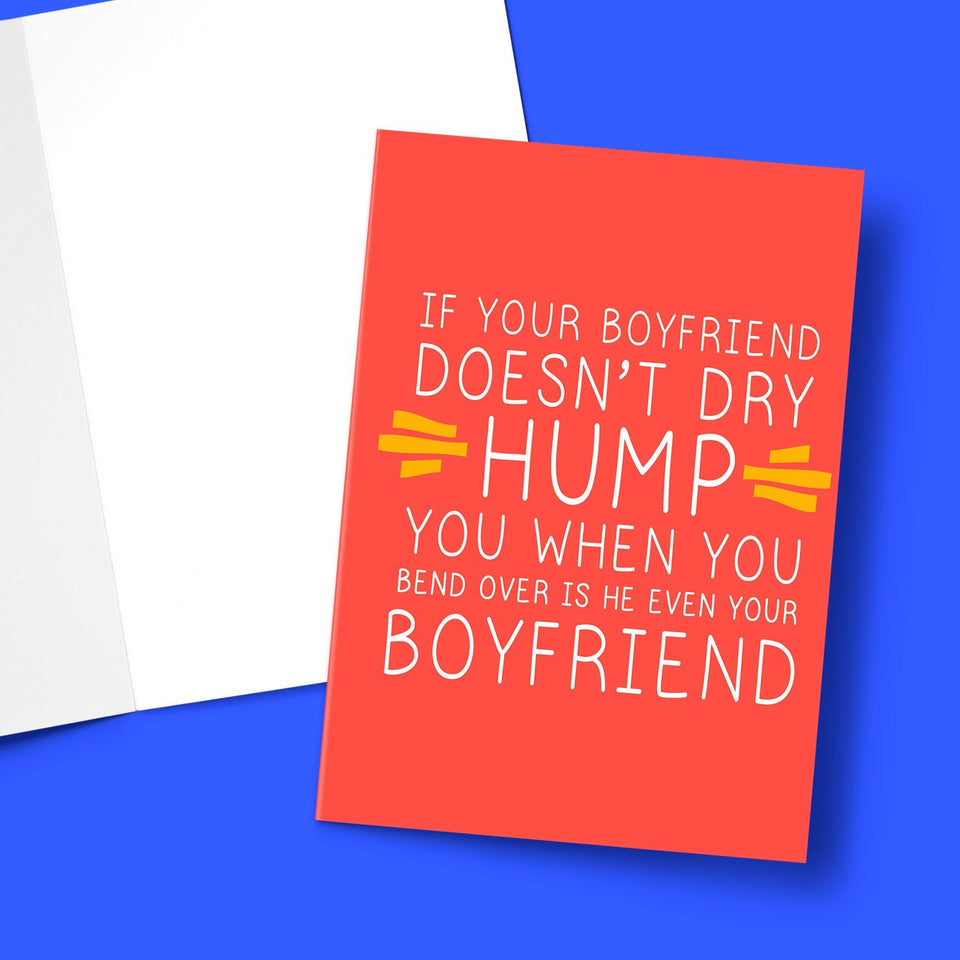 Is He Even You Boyfriend Valentine's Greeting Card Stationery Prodigi