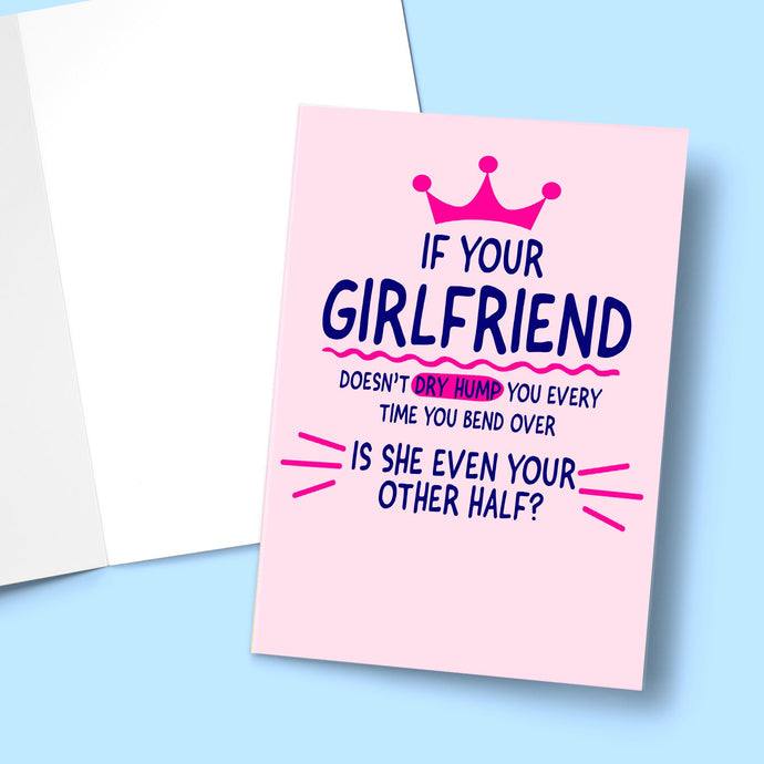Is She Even Your Other Half Valentine's Greeting Card Stationery Prodigi
