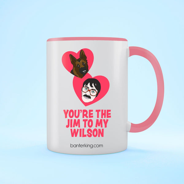 Jim To My Wilson Two Toned Large 11oz Banter Mug Mug BanterKing Red