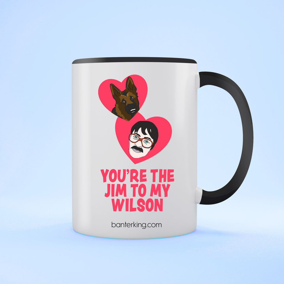 JIM TO MY WILSON TWO TONED LARGE 11 OZ BANTER MUG Mug BanterKing Black 1 MUG