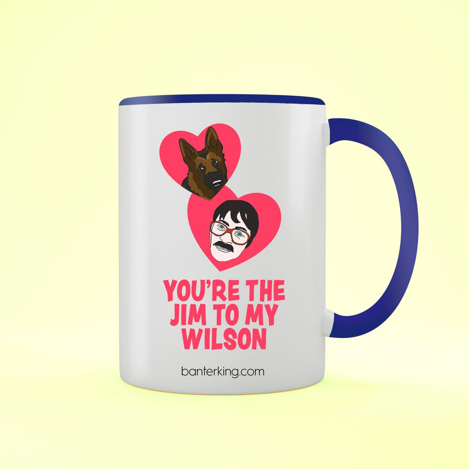JIM TO MY WILSON TWO TONED LARGE 11 OZ BANTER MUG Mug BanterKing Blue 1 MUG