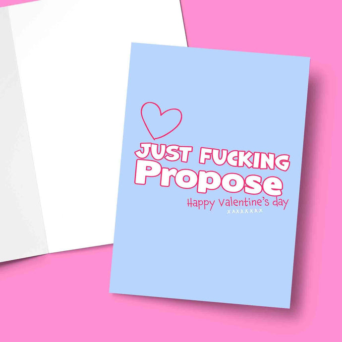 Just Propose Valentine's Greeting Card Stationery Prodigi
