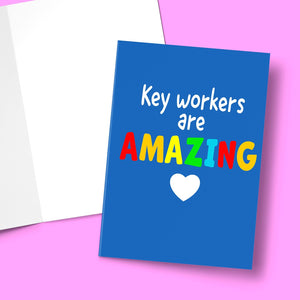 "Key Workers Are Amazing Card Stationery Prodigi 5""x7"" 1 Card"