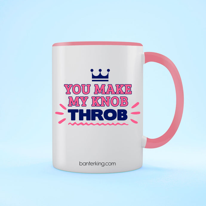 KNOB THROB VALENTINE'S TWO TONED LARGE 11 OZ BANTER MUG Mug BanterKing Pink 1 MUG