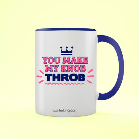 Knob Throb Valentine's Two Toned Large 11oz Banter Mug Mug BanterKing Red