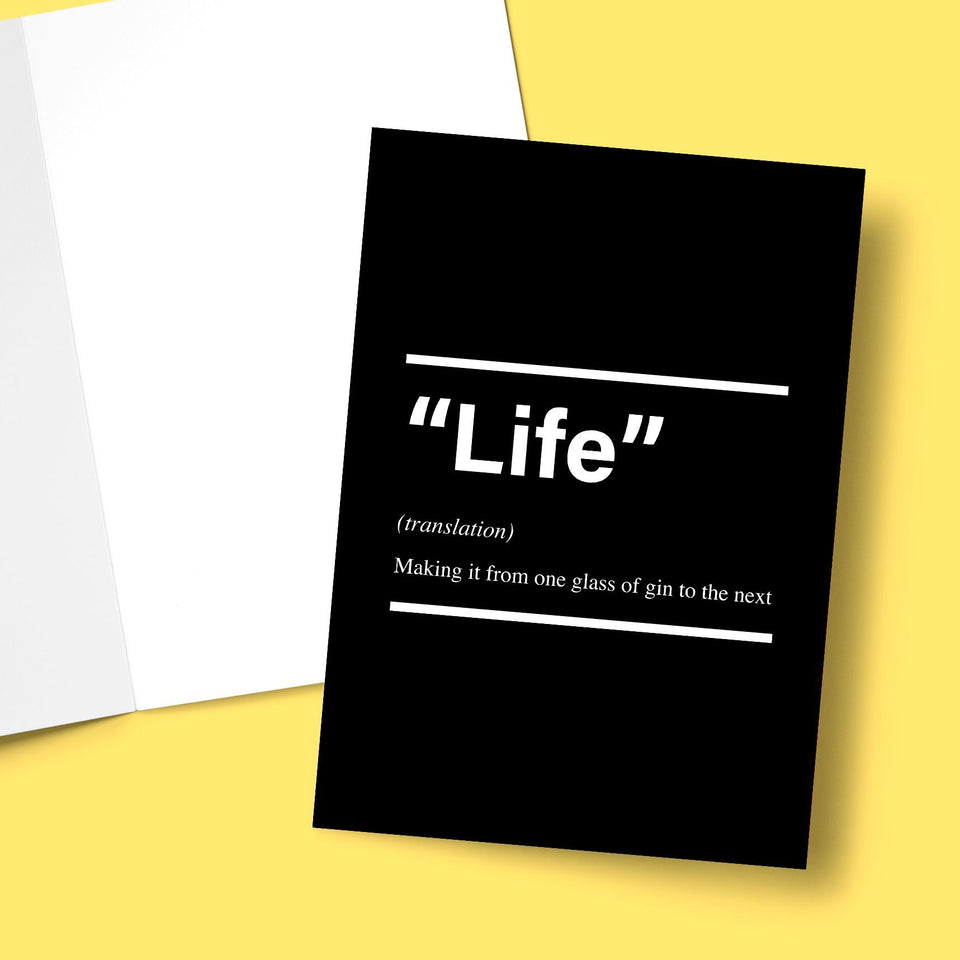 Life From One Glass Of Gin To The Next Greeting Card Stationery Prodigi
