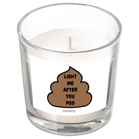 LIGHT ME AFTER YOU POO CANDLE BanterKing White/Vanilla