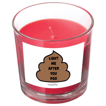 LIGHT ME AFTER YOU POO CANDLE BanterKing Red/Raspberry