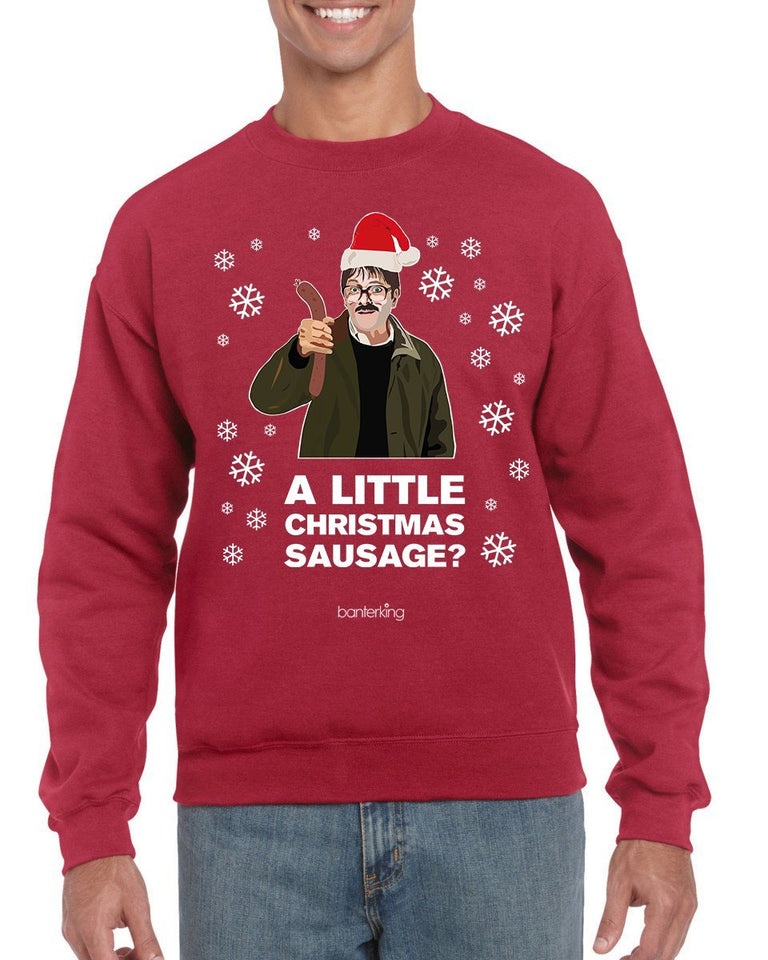 Little Sausage, Christmas Jumper (Uni Sex) Jumper BanterKing SMALL RED