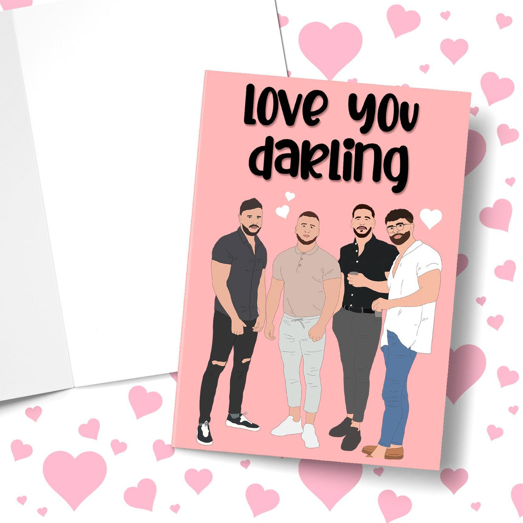 Love You Darling Valentine's Greeting Card Stationery Prodigi