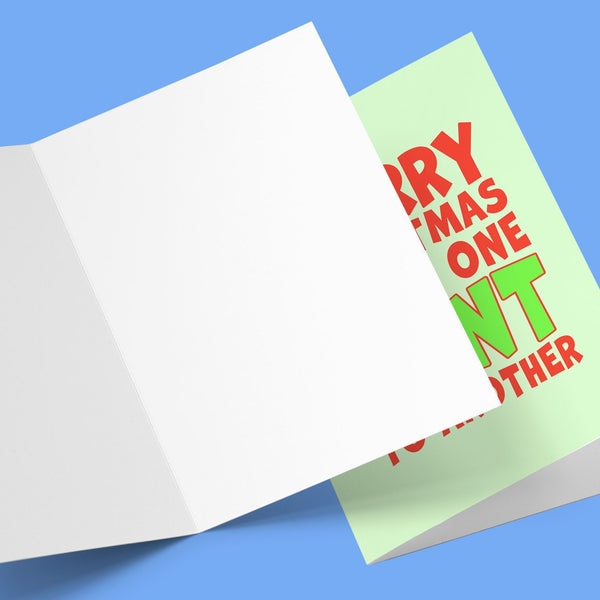Merry Christmas Cunt To Another Card Stationery Prodigi
