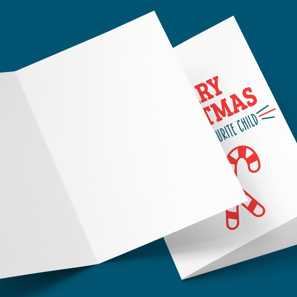 Merry Christmas From Your Favourite Chid Greeting Card Stationery Prodigi