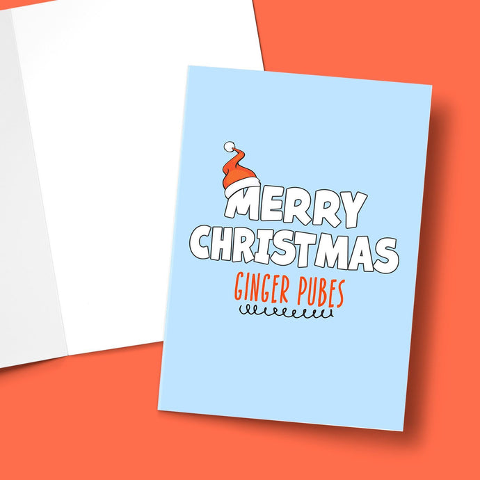 Merry Christmas Ginger Pubes Greeting Card Stationery Prodigi
