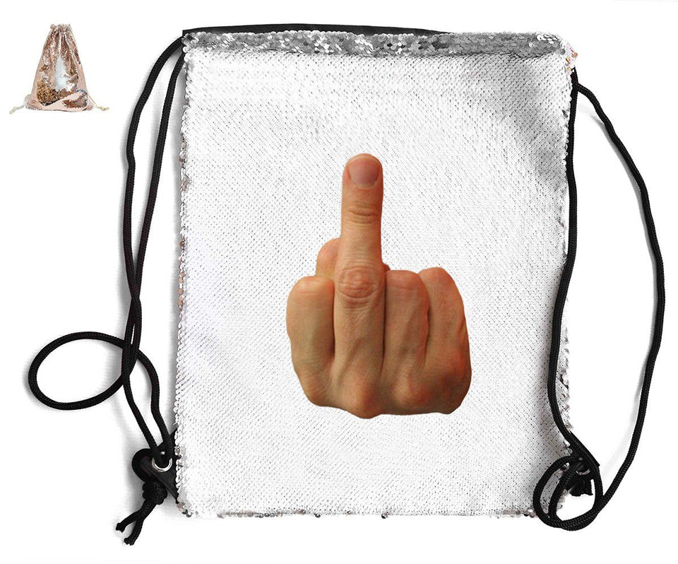 MIDDLE FINGER SEQUIN SPORTS BAG Sequin Bags BanterKing Rose Gold 1 BAG