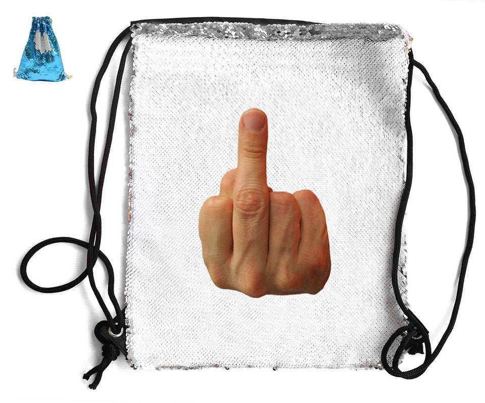 MIDDLE FINGER SEQUIN SPORTS BAG Sequin Bags BanterKing Blue 1 BAG