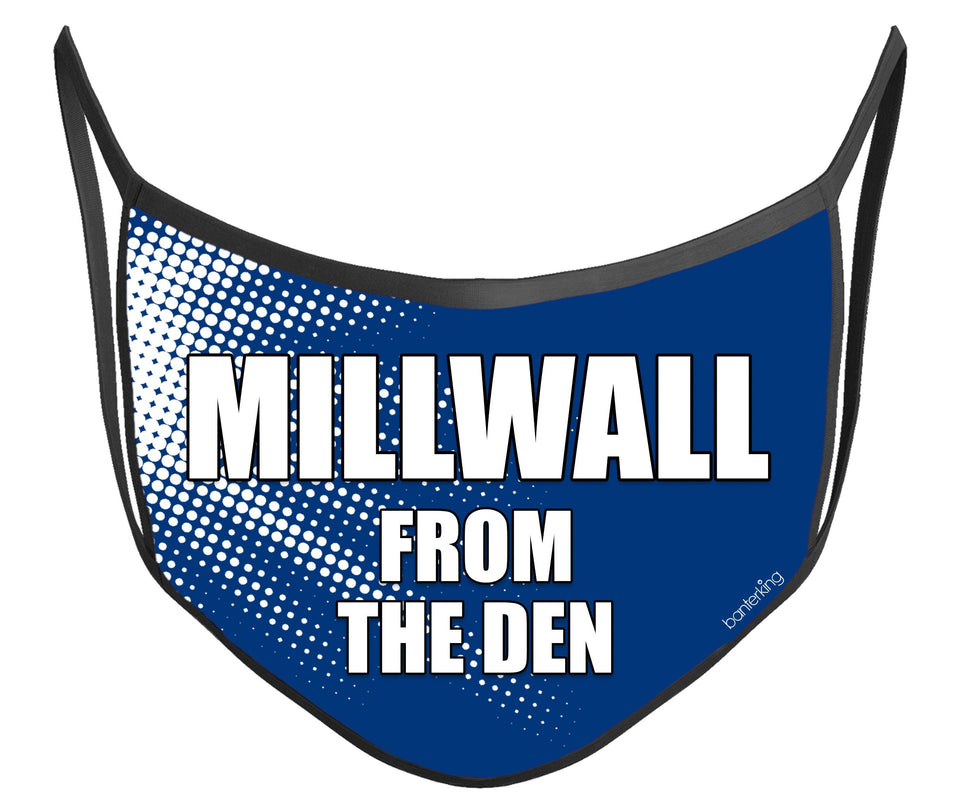 Millwall Face Mask (High Quality And Washable!) Face Mask BanterKing
